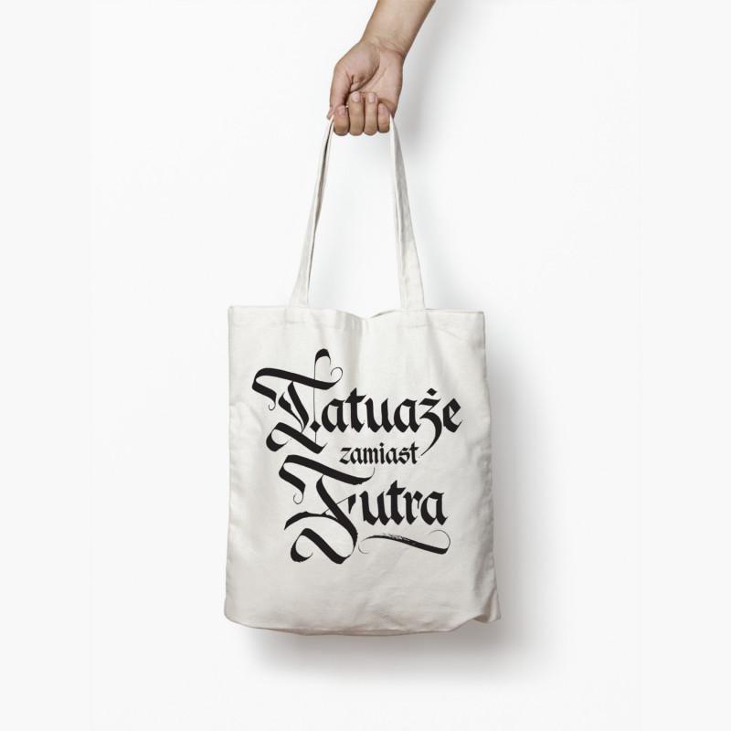 Torba Tatuaże Zamiast Futra Napis Biała