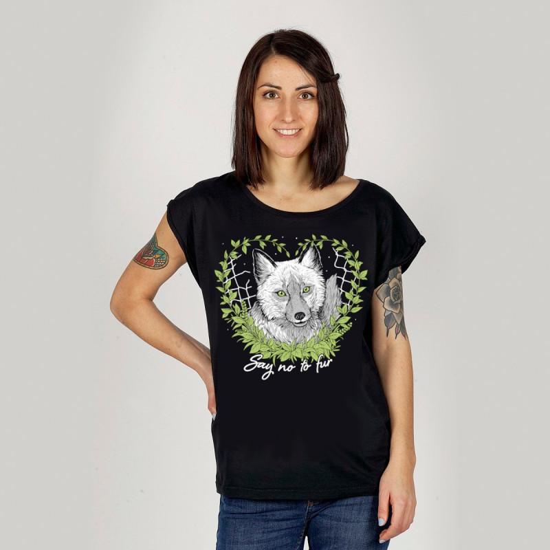 Say No To Fur women's t-shirt white