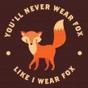 Fox hoodie unisex
