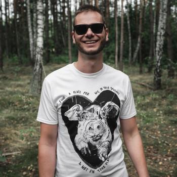 Heart Pig - Koszulka Męska