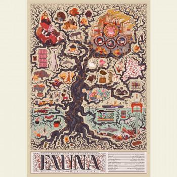 """Plakat spektaklu """"Fauna...."""